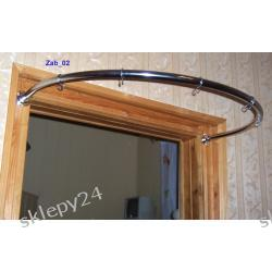 Półokrągły wieszak przyścienny - pojedyńczy - 96 cm