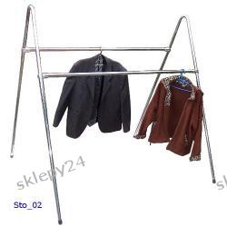 Podwójny stojak odzieżowy 150/150 - chromowany