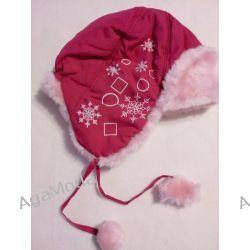 Czapka zimowa różowa -futrzak