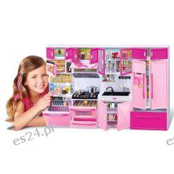 KUCHNIA mebelki Barbie 4 moduły światło EduCORE