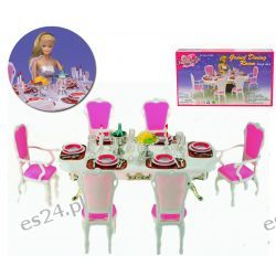 JADALNIA GOLD akcesoria mebelki Barbie EduCORE
