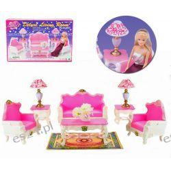 SALON GOLD sofa fotel mebelki Barbie EduCORE