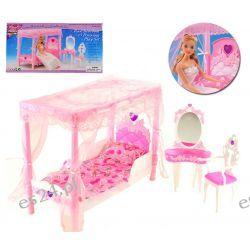 Sypialnia baldachim HEART mebelki Barbie EduCORE