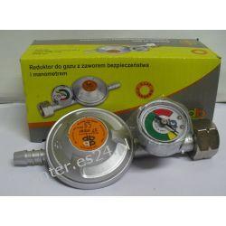 Reduktor gazowy do butli 11 kg z zaworem bezpieczeństwa i manometrem