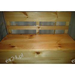 Lakierowana Skrzynia drewniana siedzisko schowek