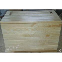 Skrzynia drewniana siedzisko schowek