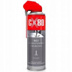 CX80 - OLEJ DO GWINTOWANIA I NAWIERCANIA 500ML DUOSPRAY -Do skrawania metali żelaznych i nieżelaznych (282)