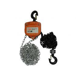 """Wciągarka łańcuchowa, typ """"heavy duty"""", dł. 3 m, udźwig 1 t, JU-CVT-1103"""