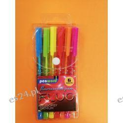 Zestaw długopisów fluo 6 kol PenWord