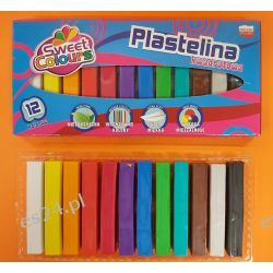 Plastelina 12 kolorowa kwadratowa Koma-Plast