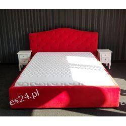 Łóżko czerwone z materacem 160cm i stelażem