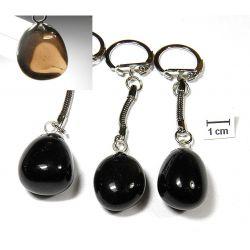 OBSYDIAN przejrzysty breloczek do kluczy 1szt Biżuteria i Zegarki
