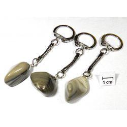 KRZEMIEŃ PASIASTY breloczek do kluczy 1szt Biżuteria i Zegarki