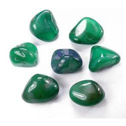 AGAT ZIELONY (20-25mm) kamień bębnowany 1szt. Skamieliny, minerały i muszle