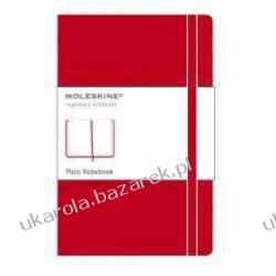 Moleskine Large Plain Notebook Red notatnik