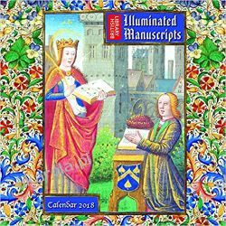 Kalendarz British Library - Illuminated Manuscripts Wall Calendar 2018