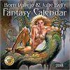Kalendarz Boris Vallejo & Julie Bell's Fantasy Wall Calendar 2018