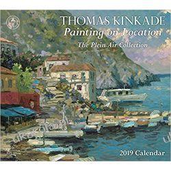 Kalendarz Thomas Kinkade Painting on Location 2019 Deluxe Wall Calendar