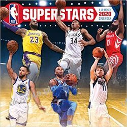 Kalendarz NBA Superstars 2020 Calendar Basketball