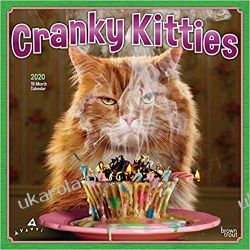 Kalendarz Koty Cranky Kitties 2020 Square Wall Calendar