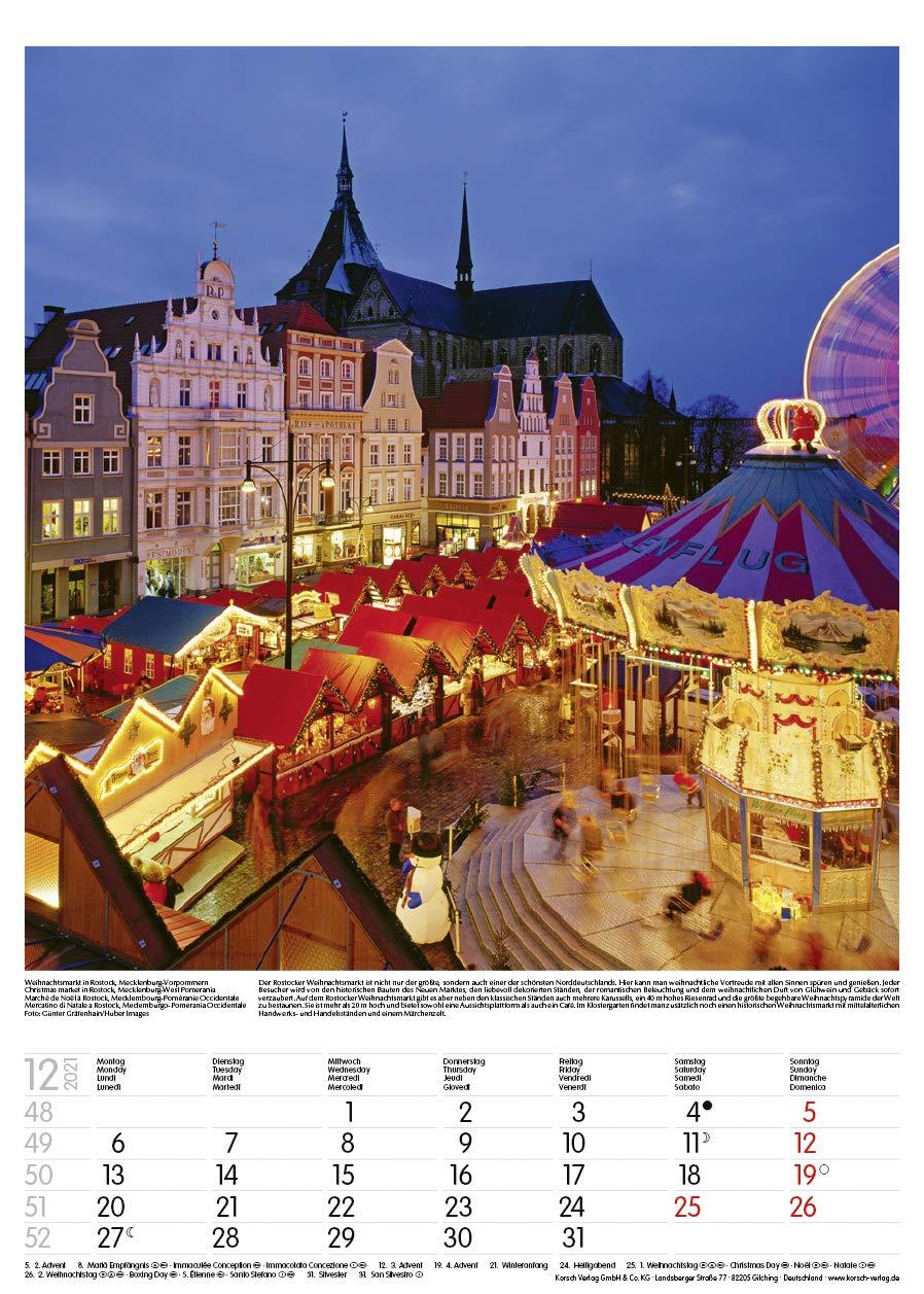 Kalendarz Niemcy Deutschland 2021 Germany Calendar ...