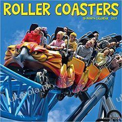 Kalendarz Roller Coasters 2021 Calendar