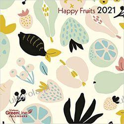Kalendarz Owoce Happy Fruits 2021 GreenLine Grid Calendar