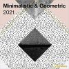 Kalendarz Minimalistic & Geometric 2021 Square Wall Calendar