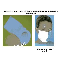 PAKIET MEDYCZNY JEDNORAZOWY: maseczki ochronne na twarz + worki na wymiociny z antybakteryjnym superabsorbentem wewnątrz Pozostałe