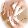 Lateksowe ochraniacze na palce - niepudrowane - rozmiar S