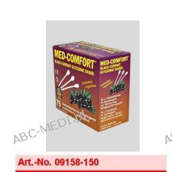 Art. nr 09158-150 MED-COMFORT  - 150 mm Patyczki higieniczne do czyszczenia jamy ustnej o smaku czarnej porzeczki - (1 karton = 20 Boxen à 25 op. po 3 sztuki)