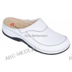 Berkemann Klapki ETIENNE - białe i czarne