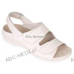 Berkemann sandały WENKE - kremowe i czarne