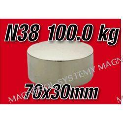 MAGNES NEODYMOWY Walcowy 70x30mm N38
