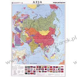 Mapa Azji szkolna, dwustronna, polityczna/konturowa Magnetyczno-suchościeralne