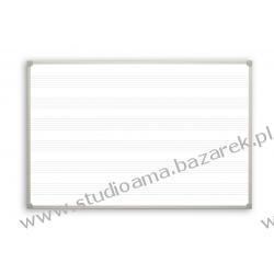 Tablica magnetyczna, biała 170x100 cm, nadruk pięciolinii Magnetyczno-suchościeralne