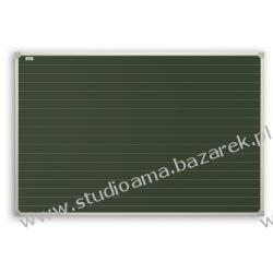 Tablica magnetyczna, zielona 170x100 cm z nadrukiem linii Magnetyczno-suchościeralne