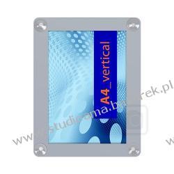 Ramka naokienna dwustronna format A4 na przyssawki Magnetyczno-suchościeralne
