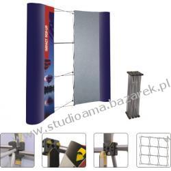 Ścianka wystawiennicza IMPAKT 3x3 łukowy z kufem Magnetyczno-suchościeralne