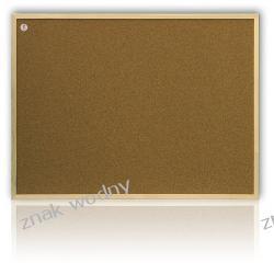 TABLICA KORKOWA 80 x 60 cm, rama drewniana TC86/C Magnetyczno-suchościeralne