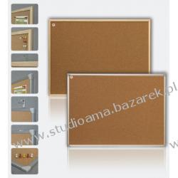TABLICA KORKOWA 150 x 100 cm, rama aluminiowa Magnetyczno-suchościeralne