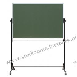 TABLICA OBROTOWA dwustronna, zielona, magnetyczna 120 x 90 cm Magnetyczno-suchościeralne