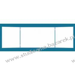 Tablica szkolna, magnetyczna, suchościeralna, rozkładana, 100 x 85/170/85 cm Magnetyczno-suchościeralne