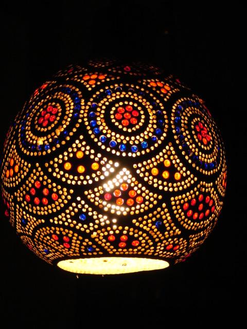 Lampa Z Tykwy Naturalna Afryka , Lampy z tykwy Galeria