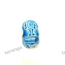SKARABEUSZ Egipt kamień niebieski