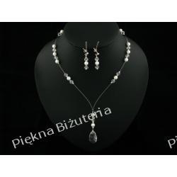 Biżuteria Ślubna - perły kryształ Swarovski i srebro