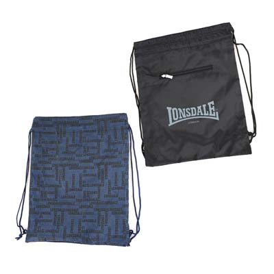 Мини-сумка Lonsdale Reversible (шнуровка).  Материал.