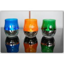 Lampka  - LAMPION ZNICZ LED SZKŁO ZIELONY NOWY
