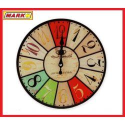 OKRĄGŁY ZEGAR KWARCOWY ŚCIENNY SZKLANA TARCZA  30C Zegary