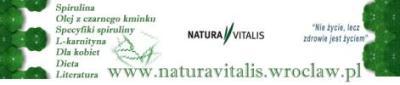 Natura Vitalis sklep z suplementami diety: spirulina, olej z czarnego kminku, chlorella, suplementy specjalistyczne.